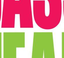 Bass Head (magenta/neon green)  Sticker