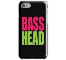 Bass Head (magenta/neon green)  iPhone Case/Skin