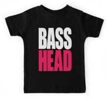 Bass Head (white/magenta)  Kids Tee