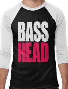 Bass Head (white/magenta)  Men's Baseball ¾ T-Shirt