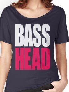 Bass Head (white/magenta)  Women's Relaxed Fit T-Shirt
