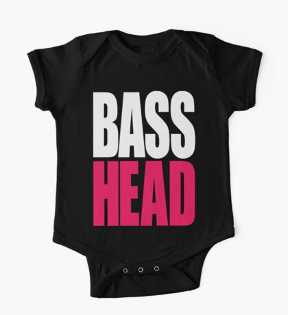 Bass Head (white/magenta)  One Piece - Short Sleeve