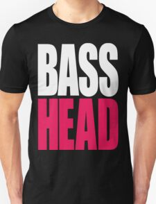 Bass Head (white/magenta)  Unisex T-Shirt
