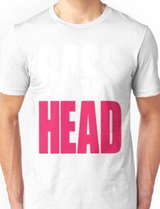 Bass Head (white/magenta)  Unisex T-Shirt
