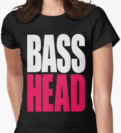 Bass Head (white/magenta)  T-Shirt