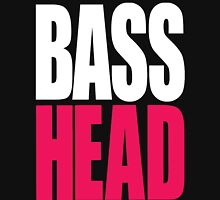 Bass Head (white/magenta)  Womens Fitted T-Shirt