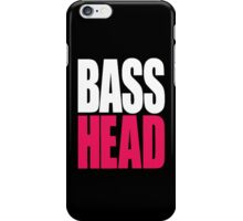 Bass Head (white/magenta)  iPhone Case/Skin
