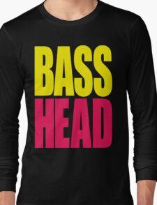 Bass Head (yellow/magenta)  Long Sleeve T-Shirt