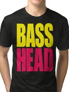 Bass Head (yellow/magenta)  Tri-blend T-Shirt