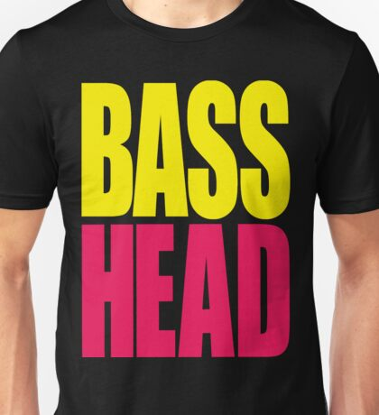 Bass Head (yellow/magenta)  Unisex T-Shirt