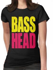 Bass Head (yellow/magenta)  Womens Fitted T-Shirt