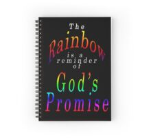 God's Promise, the Rainbow Spiral Notebook