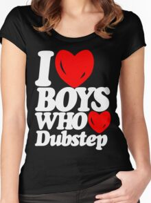 I love boys who love dubstep (dark)  Women's Fitted Scoop T-Shirt