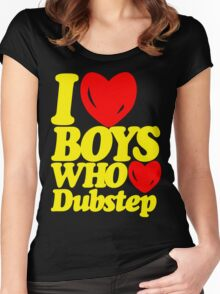 I love boys who love dubstep (limited edition)  Women's Fitted Scoop T-Shirt