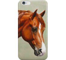 Chestnut Morgan Horse iPhone Case/Skin