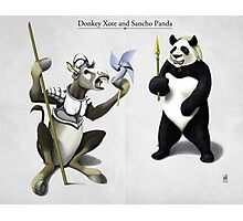 Donkey Xote and Sancho Panda Photographic Print