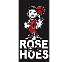 Derrick Rose NBA Basketball Rose Before Hoes black Photographic Print