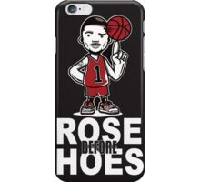 Derrick Rose NBA Basketball Rose Before Hoes black iPhone Case/Skin