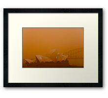 Orange Sydney Framed Print