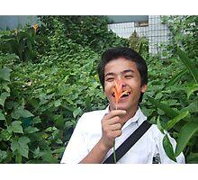 Flower Boy - Sam Tun Photographic Print
