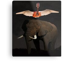 The Weight Metal Print