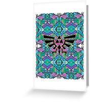 Hylian Royal Crest - Legend Of Zelda - Pattern Blue Greeting Card