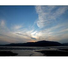 Sunset At Conwy RSPB Reserve Photographic Print