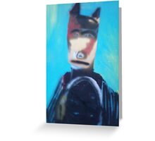 outofwork Batman Greeting Card