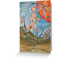 running to nowhere on the infinate hamster wheel Greeting Card