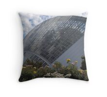Tropical Plant Conservatory Throw Pillow
