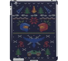 Ugly Red vs Blue Christmas Sweater iPad Case/Skin
