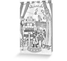 Robot Circus Greeting Card