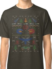 Ugly Red vs Blue Christmas Sweater Classic T-Shirt
