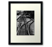 Railway Tracks Framed Print