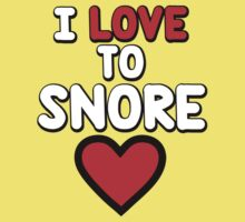 I love to snore Kids Clothes