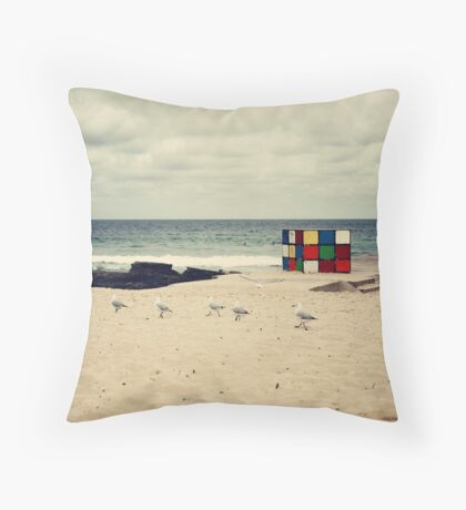 A Moment at Maroubra Throw Pillow