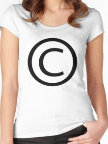 copyright symbol Women's Fitted Scoop T-Shirt