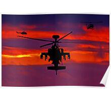 Apache sunset Poster