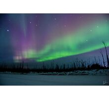 Ice Road Auroras Photographic Print