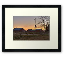 Wispy Clouds and a Windmill Framed Print