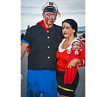 Popeye and Olive Oil Zombies Photographic Print