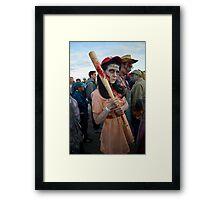 Woman's Baseball Zombie Framed Print