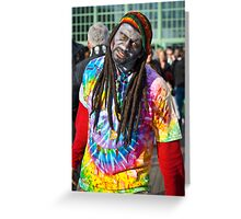 Zombie Rasta Dude Greeting Card