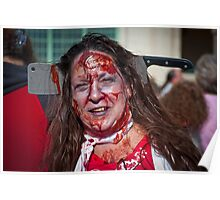 Zombie Walk Knife in Head Poster