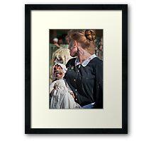 Zombie Walk Scary Baby Framed Print