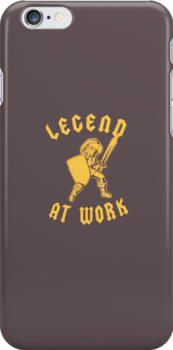 Zelda Legend At Work Gold and Brown iPhone Case by TalkThatTalk