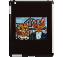 American Gothic Cats - A Parody iPad Case/Skin