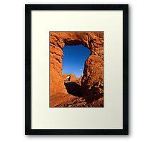Double Desert Window Framed Print