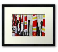Shed End Invincibles Scarves Framed Print