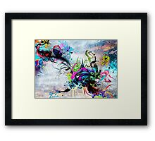 Streaming Eyes Framed Print